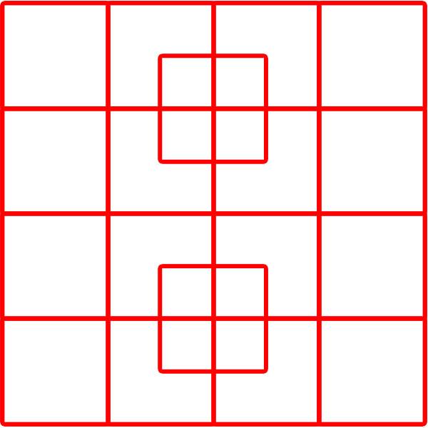 Kiek kvadratukų?